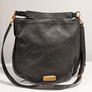 Marc Jacobs black hobo leather bag